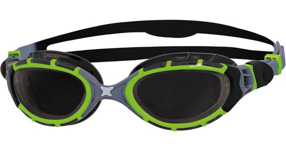 Zoggs Predator Flex Goggle Titanium Reactor Black/Green